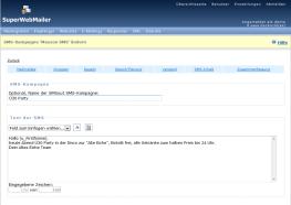 PHP Newsletter Software Versand von Serien-SMS, Gruppen-SMS und Massen-SMS
