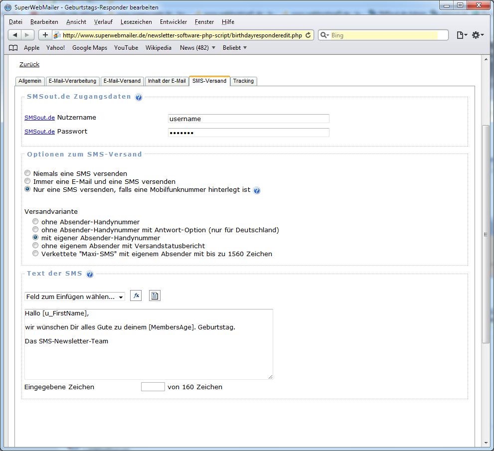 Newsletter Software Superwebmailer Versand Von Geburtstags Html E