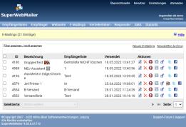 PHP Newsletter Software SuperWebMailer zum HTML Newsletter erstellen und HTML Newsletter versenden